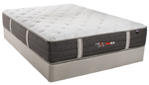 therapedic theraluxe hd cascade plush heavy duty mattress and foundation