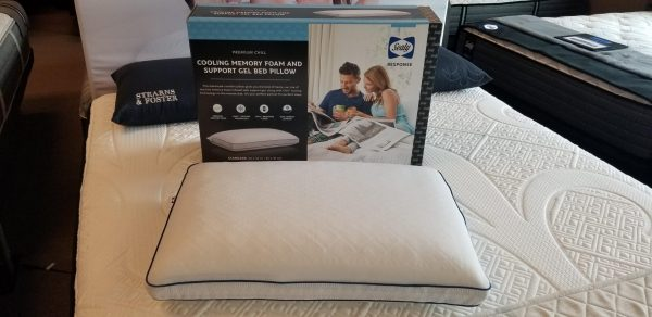 sealy memory foam bed pillow cooling