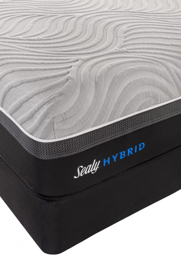 sealy copper II hybrid queen mattress cooling wave cover